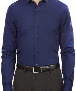 Arrow 1851 Men's Dress Shirt Poplin (Available in Regular, Fitted, Slim, and Extreme Slim Fits)