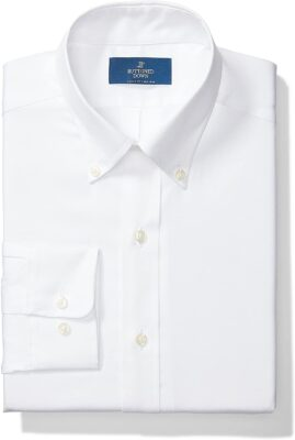 Buttoned Down Men's Standard Classic Fit Button Collar Solid Non-Iron Dress Shirt