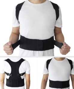 New Magnetic Posture Corrector Neoprene Back Corset Brace Straightener Shoulder Back Belt Spine Support Belt for Men Women