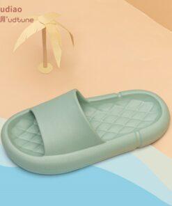 Youdiao EVA Platform Sippers Women Soft Indoor Home Slides For Women Mute Non-slip Sandals Men Summer Poop Feeling Women Shoes