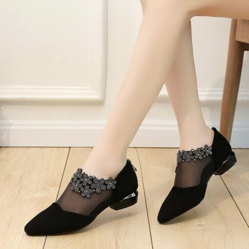 woman high heels shoes party mesh ladies party lace classics high heels crystal zipper crystal solid platform sandals